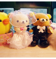 Rilakkuma Bride and Groom Wedding Doll