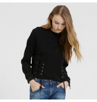 Lace Up Side Pullover Shirt
