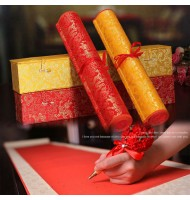 Chinese Style Scroll Type Wedding Signature Book Guest Book