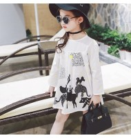 Korean Version Long Sleeve Girl Dress