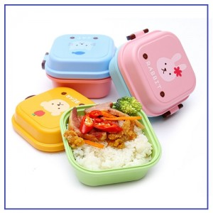 Double Layer Lunchbox Food Container for Kids Children