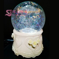 Carousel Luminous Water Globe Rotating Music Box