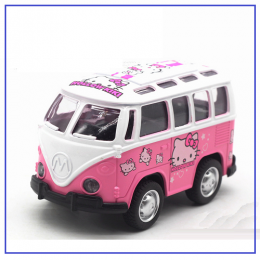 Hello Kitty Van 1:36 Scale Pull Back Toy Car