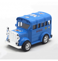 Doraemon Vintage Bus 1:36 Pull Back Toy Car