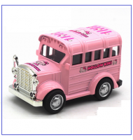 Hello Kitty Vintage Bus 1:36 scale Pull Back and Go Toy Car