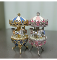 High Grade Metal Mini Carousel Music Box