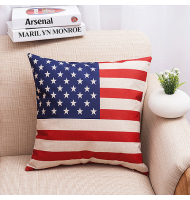 The American Flag Square Decorative Pillow Case Cushion Cover