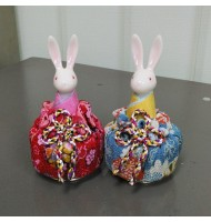 Traditional Japanese Style Rabbit Music Box