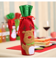Wine Bottle Cover Christmas Gift Bags Reindeer