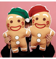 Christmas Gingerbread Figure Cushion Pillow