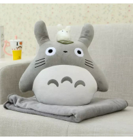 Totoro with Chibi Stuffed Blanket Toy Doll