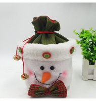 Unique 3D Plush Snowman Treat Bag Gift Bag