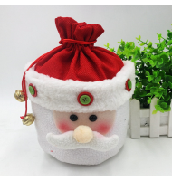 Unique 3D Plush Santa Claus Treat Bag Gift Bag