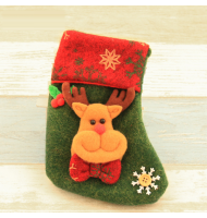 Mini 3D Reindeer Christmas Stocking