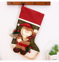 3D Vintage Santa Claus Stocking