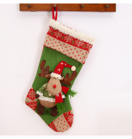 Cheerful Moose Christmas Stocking