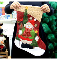 Snowman Christmas Stocking with Magnificent Embroidery