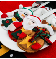 Christmas Suit Tableware Holders