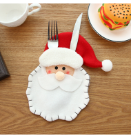 Santa Clause Head Tableware Holder