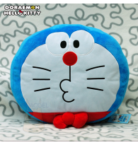 Doraemon meets Hello Kitty Face Plush Cushion