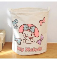 Melody Canvas Laundry Basket/Storage Basket