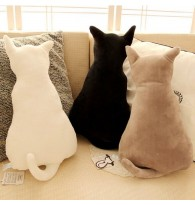Cat Back Shadow Cushion Pillow Plush
