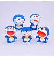 Doraemon in set 5 Model Figurine Ornaments Display