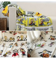 Snoopy & Charlie Brown Peanuts Comic Strip Throw Blanket