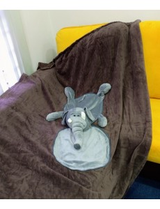 Elephant Cushion Blanket