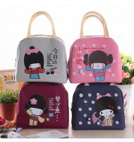 Japanese Little Girl Insulated Portable Lunch Bag