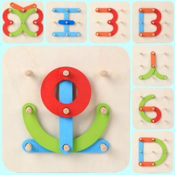 Letter Set Column Early Education Wooden Toy
