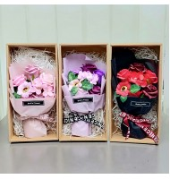 Rose & Daisy Soap Flower Bouquet Gift Set