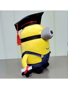 Minion Single Eye Graduation Convo Plush Doll