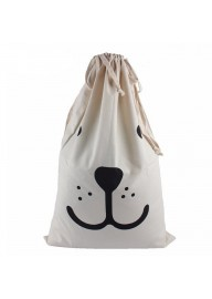 Smiling Face Toy Storage Bag, Drawstring Bag, Canvas Storage Bag Sack
