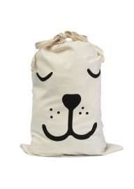 Sleeping Face Storage Bag, Drawstring Bag, Canvas Storage Bag Sack