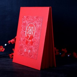 Chinese Wedding Signature Book Guest Book with Gridlines