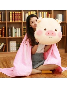 3 in 1 Piggy Hand Warmer Blanket Pillow