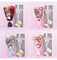 LED Wishing Rabbit Bouquet Dried Flower Gift Box