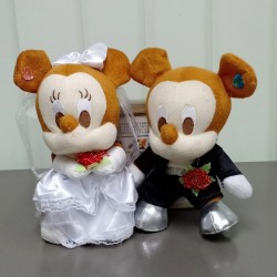 [Defect] Mickey Wedding Doll Plush AB0602