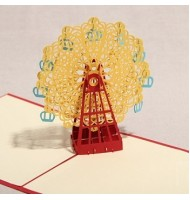 3D Carved Ferris Wheel Handmade Pop up Greeting Cards