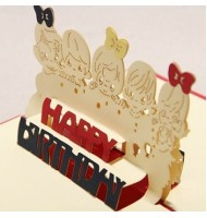 3D Carved Children Handmade Pop up Greeting Cards