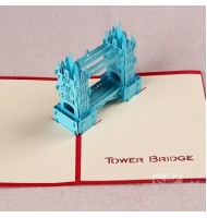 3D Carved Thames Bridge Handmade Pop up Greeting Cards
