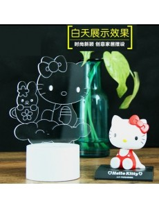3D Hello Kitty Baby Remote+USB LED Small Touching Lamp