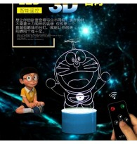 3D Doraemon Remote+USB LED Small Touching Lamp
