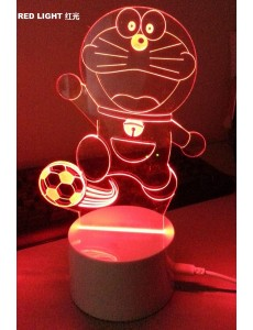3D Doraemon Soccer Remote USB+LED Small Touching Lamp