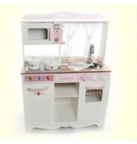 Mother Garden Strawberry Luxury Western-Style Wooden Kitchen