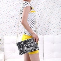 Ladies Zebra Print Shoulder Sling Handbag