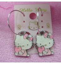 Hello Kitty Apple Earring