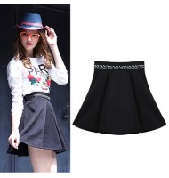High Waisted Rhinestone Iron Umbrella Short Skirt