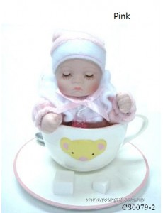 Coffee Cup Bobble Head Doll Music Box